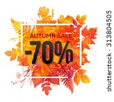 autumn sale  70  discount... | Shutterstock .eps vector #313804505