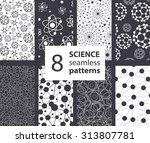 vector science molecules... | Shutterstock .eps vector #313807781