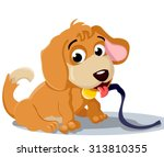 cartoon puppy with a medal...