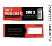 gift voucher discount  template ... | Shutterstock .eps vector #313818029