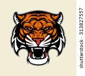 tiger head mascot | Shutterstock .eps vector #313827557