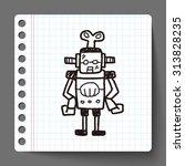 robot doodle | Shutterstock .eps vector #313828235
