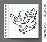 fairy doodle | Shutterstock .eps vector #313831235