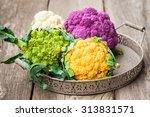 Rainbow Of Organic Cauliflower...