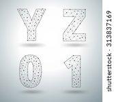 mesh stylish alphabet letters... | Shutterstock .eps vector #313837169