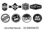 grunge stamp set | Shutterstock .eps vector #313840655