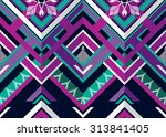 abstract geometric ethnic... | Shutterstock .eps vector #313841405