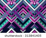 abstract geometric ethnic...   Shutterstock .eps vector #313841405