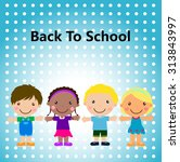 group of kids  back to school | Shutterstock .eps vector #313843997