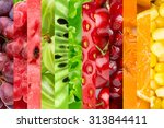 fresh color food background.... | Shutterstock . vector #313844411