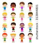 boys and girls.  | Shutterstock .eps vector #313844801