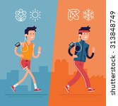 all seasons fitness run vector... | Shutterstock .eps vector #313848749
