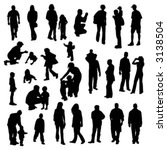 vector silhouettes of people | Shutterstock .eps vector #3138504