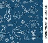 coral reef life  vector... | Shutterstock .eps vector #313851431