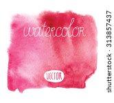 stunning red watercolor vector | Shutterstock .eps vector #313857437
