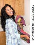 african american woman doing... | Shutterstock . vector #313860659