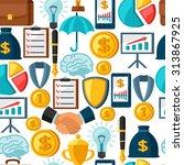 business and finance seamless... | Shutterstock .eps vector #313867925