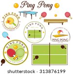 ping pong | Shutterstock .eps vector #313876199