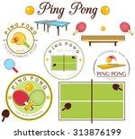 ping pong | Shutterstock .eps vector #313876199