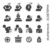 sick icon set | Shutterstock .eps vector #313878944