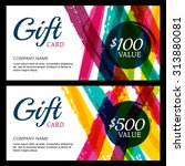 vector gift card  abstract... | Shutterstock .eps vector #313880081