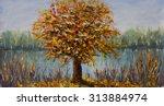 Original Oil Painting Tree Nea...