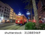 Small photo of NEW ORLEANS, USA - AUGUST 22: New Orleans Streetcar Line at downtown New Orleans on August 22, 2015. The New Orleans Streetcar line began electric operation in 1893.