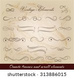 vintage elements and page...   Shutterstock .eps vector #313886015