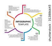 infographic template. report...   Shutterstock .eps vector #313886645