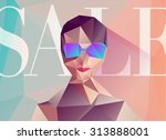 polygon women's fashion sale | Shutterstock .eps vector #313888001