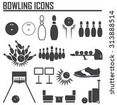 Bowling Icon Vector.