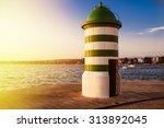 maritime lighthouse in zadar in ... | Shutterstock . vector #313892045
