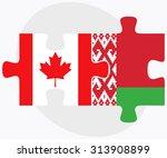 canada and belarus flags in...   Shutterstock .eps vector #313908899