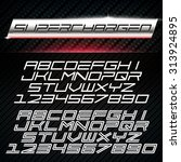 vector font in car emblem decal ...   Shutterstock .eps vector #313924895
