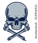 skull and crossbones | Shutterstock .eps vector #313926521