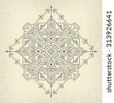 vintage tribal ethnic... | Shutterstock .eps vector #313926641