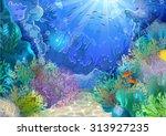 illustration of a cartoon... | Shutterstock . vector #313927235