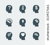 human head icons set. symbol of ... | Shutterstock .eps vector #313927661