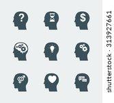 human head icons set. symbol of ... | Shutterstock .eps vector #313927661