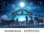 traditional christian christmas ... | Shutterstock . vector #313931531