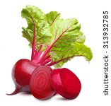 beetroot with leaves isolated... | Shutterstock . vector #313932785