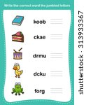 write the correct word the... | Shutterstock .eps vector #313933367