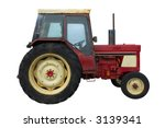 Vintage Red Tractor With Rust...
