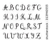 hand drawn alphabet. vector... | Shutterstock .eps vector #313940555