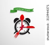 lunch time | Shutterstock .eps vector #313944371