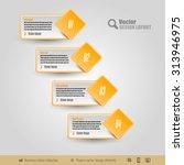 vector business stickers... | Shutterstock .eps vector #313946975