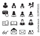 reading icon set