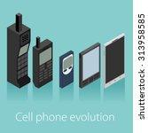 cell phone evolution vector...   Shutterstock .eps vector #313958585