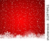 christmas background with white ... | Shutterstock .eps vector #313974911