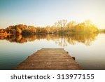 Stock photo lake on an autumn day 313977155